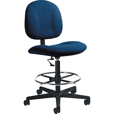 Global Custom Deluxe Drafting Chair, Blue Bayou, Ultra-Premium Grade