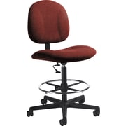 Global Custom Deluxe Drafting Chair, Tomato, Ultra-Premium Grade