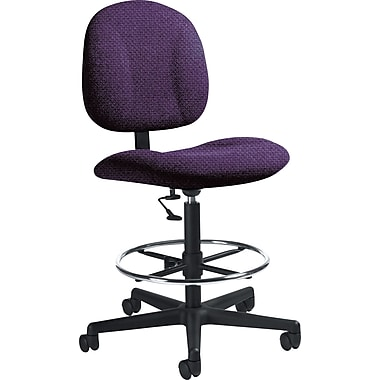 Global Custom Deluxe Drafting Chair, Amethyst, Ultra-Premium Grade