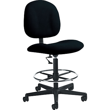 Global Custom Deluxe Drafting Chair, Asphalt, Ultra-Premium Grade