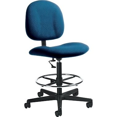 Global Custom Deluxe Drafting Chair, Indigo, Ultra-Premium Grade