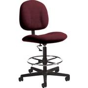 Global Custom Deluxe Drafting Chair, Claret, Ultra-Premium Grade
