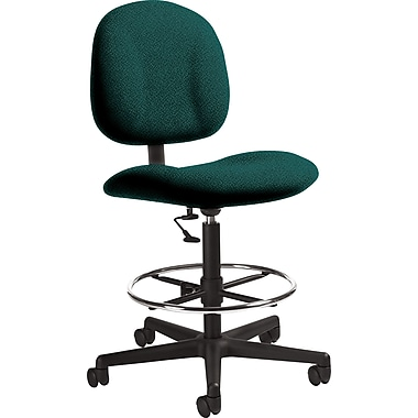 Global Custom Deluxe Drafting Chair, Hunter Green, Ultra-Premium Grade