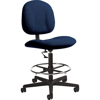Global Custom Deluxe Drafting Chair, Sapphire, Ultra-Premium Grade