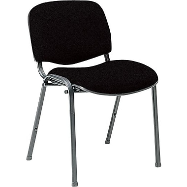 Global Custom Deluxe Stacking Chair, Black, Premium Grade