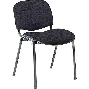 Global Custom Deluxe Stacking Chair, Grey, Premium Grade