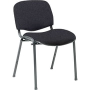 Global Custom Deluxe Stacking Chair, Grey, Premium Grade