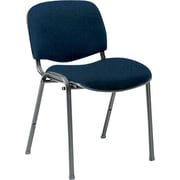 Global Custom Deluxe Stacking Chair, Navy, Premium Grade