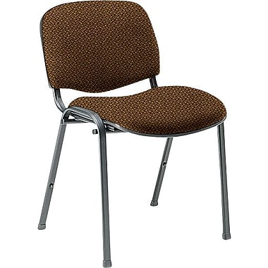 Global Custom Deluxe Stacking Chair, Clay, Premium Grade