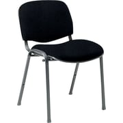 Global Custom Deluxe Stacking Chair, Asphalt, Premium Grade