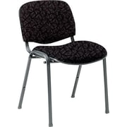 Global Custom Deluxe Stacking Chair, Carbon, Premium Grade