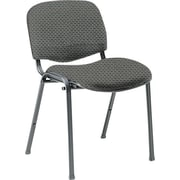 Global Custom Deluxe Stacking Chair, Pewter, Ultra-Premium Grade