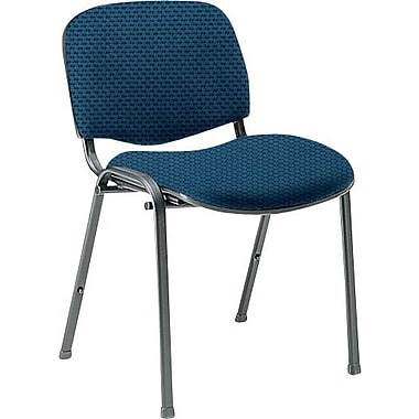 Global Custom Deluxe Stacking Chair, Blue Berry, Ultra-Premium Grade
