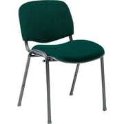 Global Custom Deluxe Stacking Chair, Hunter Green, Ultra-Premium Grade