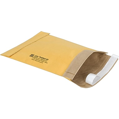 Staples® QuickStrip Padded Mailers, #0, 5-7/8in. x 8-3/4in.