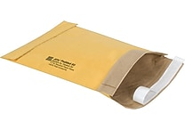 Staples #0 Padded Mailer, 5 7/8' x 8 3/4', Gold Kraft, 25/Pack (27201-CC)