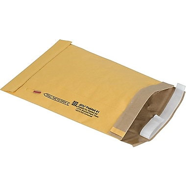 Staples® QuickStrip Padded Mailers, #1, 7-1/8in. x 11in.