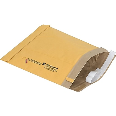 Staples #2 Padded Mailer, Gold Kraft, 8-3/8