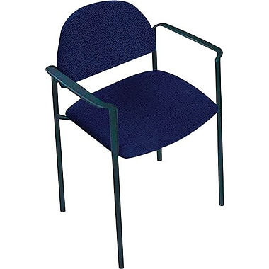 Global Custom Comet Stacking Reception Chair with Arms, Midnite, Premium Grade