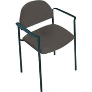 Global Custom Comet Stacking Reception Chair with Arms, Slate, Premium Grade