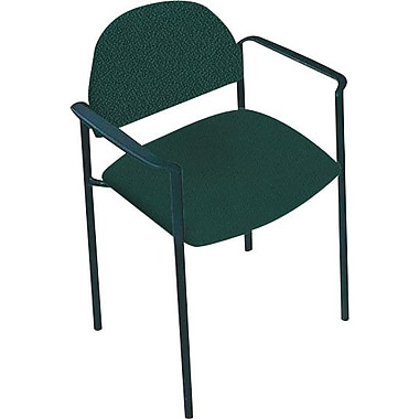 Global Custom Comet Stacking Reception Chair with Arms, Teal, Premium Grade