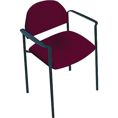 Global Custom Comet Stacking Reception Chair with Arms, Vermilion, Premium Grade
