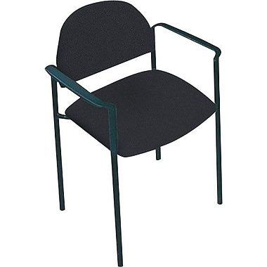 Global Custom Comet Stacking Reception Chair with Arms, Charcoal, Premium Grade