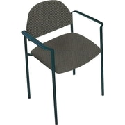 Global Custom Comet Stacking Reception Chair with Arms, Seaside, Premium Grade