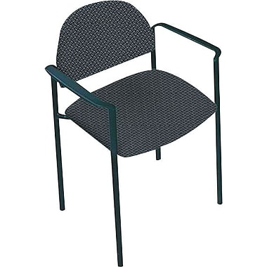 Global Custom Comet Stacking Reception Chair with Arms, Marine, Premium Grade