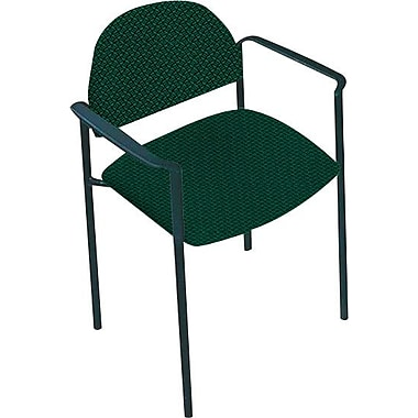 Global Custom Comet Stacking Reception Chair with Arms, Atrium, Premium Grade