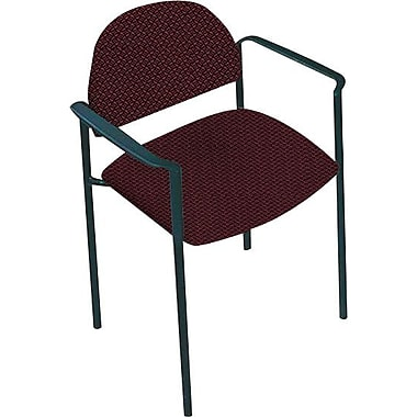 Global Custom Comet Stacking Reception Chair with Arms, Rhapsody, Premium Grade