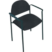 Global Custom Comet Stacking Reception Chair with Arms, Asphalt, Premium Grade