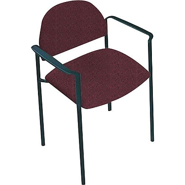 Global Custom Comet Stacking Reception Chair with Arms, Garnet, Premium Grade