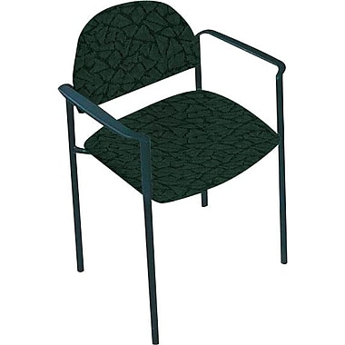 Global Custom Comet Stacking Reception Chair with Arms, Cypress, Premium Grade