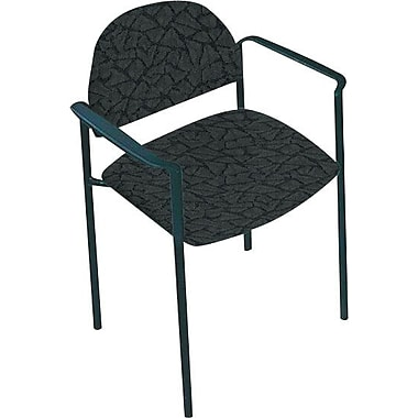 Global Custom Comet Stacking Reception Chair with Arms, Java, Premium Grade