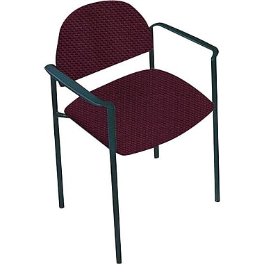 Global Custom Comet Stacking Reception Chair with Arms, Cherry Fields, Ultra-Premium Grade