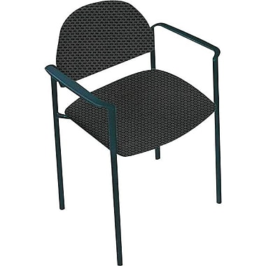 Global Custom Comet Stacking Reception Chair with Arms, Thunderstorm, Ultra-Premium Grade