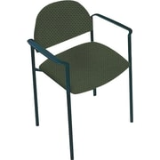 Global Custom Comet Stacking Reception Chair with Arms, Leaf, Ultra-Premium Grade