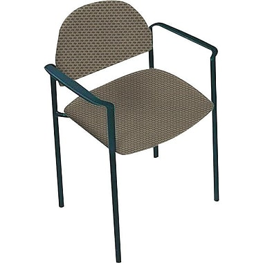 Global Custom Comet Stacking Reception Chair with Arms, Melon, Ultra-Premium Grade