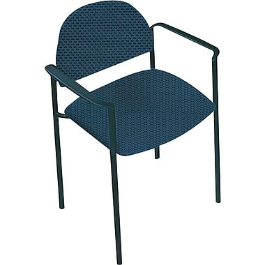 Global Custom Comet Stacking Reception Chair with Arms, Blue Berry, Ultra-Premium Grade