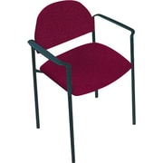 Global Custom Comet Stacking Reception Chair with Arms, Shiraz, Ultra-Premium Grade