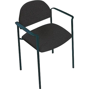 Global Custom Comet Stacking Reception Chair with Arms, Charcoal, Ultra-Premium Grade