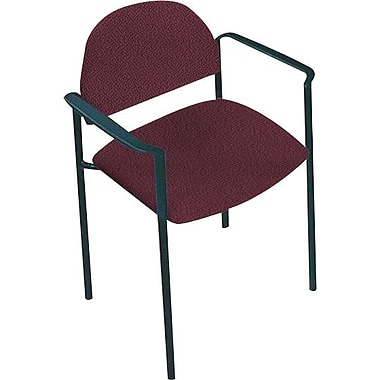 Global Custom Comet Stacking Reception Chair with Arms, Claret, Ultra-Premium Grade