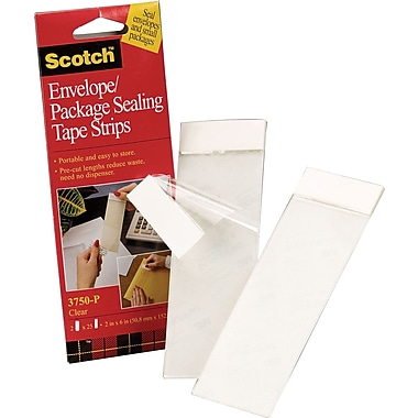 Scotch Envelope/Package Sealing Tape Strips, 2in. x 6in.