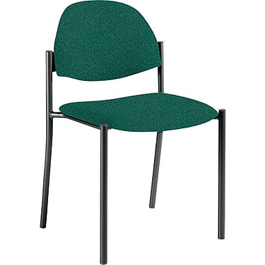 Global Custom Comet Stacking Reception Chair without Arms, Hunter Green, Premium Grade