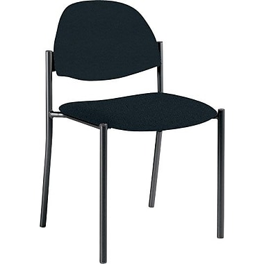 Global Custom Comet Stacking Reception Chair without Arms, Ebony, Premium Grade