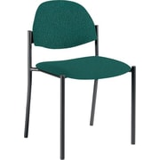 Global Custom Comet Stacking Reception Chair without Arms, Teal, Premium Grade