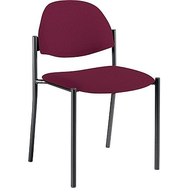 Global Custom Comet Stacking Reception Chair without Arms, Vermilion, Premium Grade