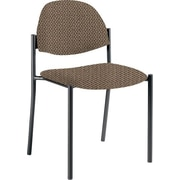 Global Custom Comet Stacking Reception Chair without Arms, Clay, Premium Grade