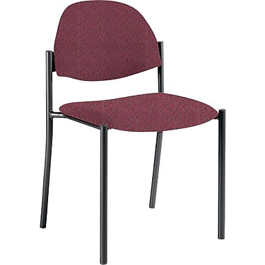 Global Custom Comet Stacking Reception Chair without Arms, Garnet, Premium Grade